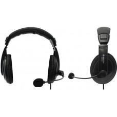 Наушники с микрофоном Defender Gryphon HN-750 Black (с  регулятором громкости,шнур  2м)  <63750>