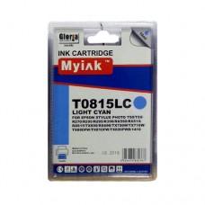 Картридж (T0825) EPSON R270/390/RX590/TX700/1410 св.син (16ml, Dye) MyInk