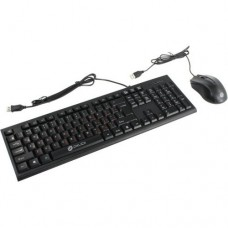 OKLICK Keyboard & Optical Mouse < 620M > Black (Кл-ра, USB+Мышь 3кн, Roll, USB) < 475652 >