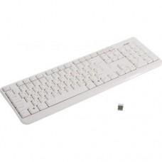 Клавиатура SVEN Wireless KB-C2200W  White <USB>  104КЛ,  беспроводная