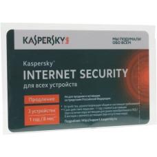 Карта продления лицензии Kaspersky Internet Security < KL1941ROCFR > для всех устройств на 3 устр
